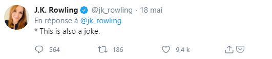 JK Rowling, c'est une blague