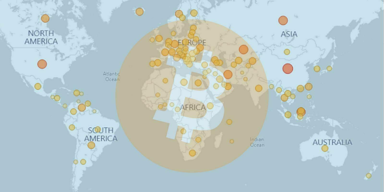 Visualisez la distribution du hashrate de Bitcoin avec une carte interactive