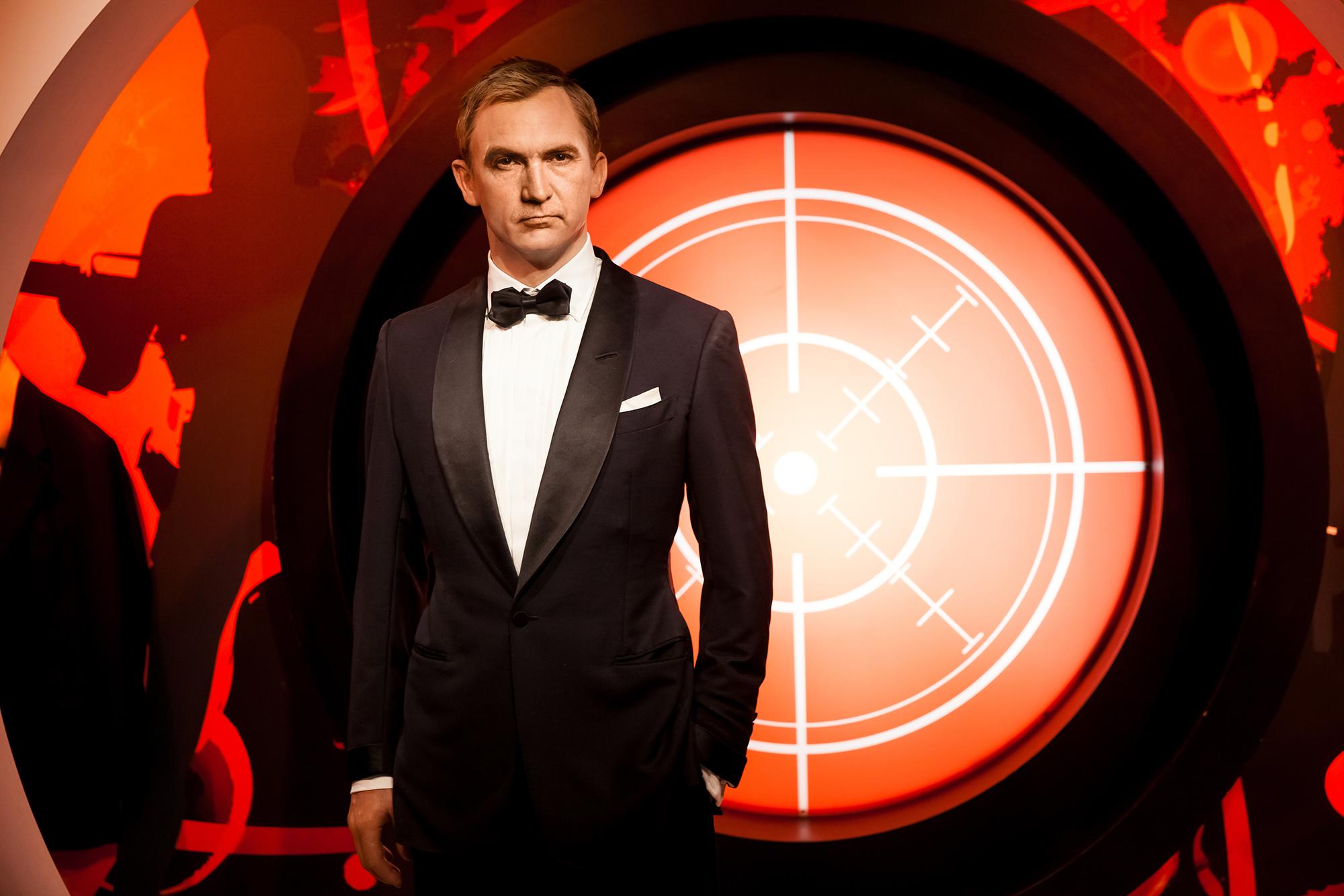 Montage photo de Craig Wright déguisé en James Bond