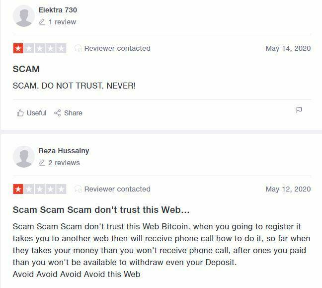 Bitcoin Revolution avis Trustpilot arnaque