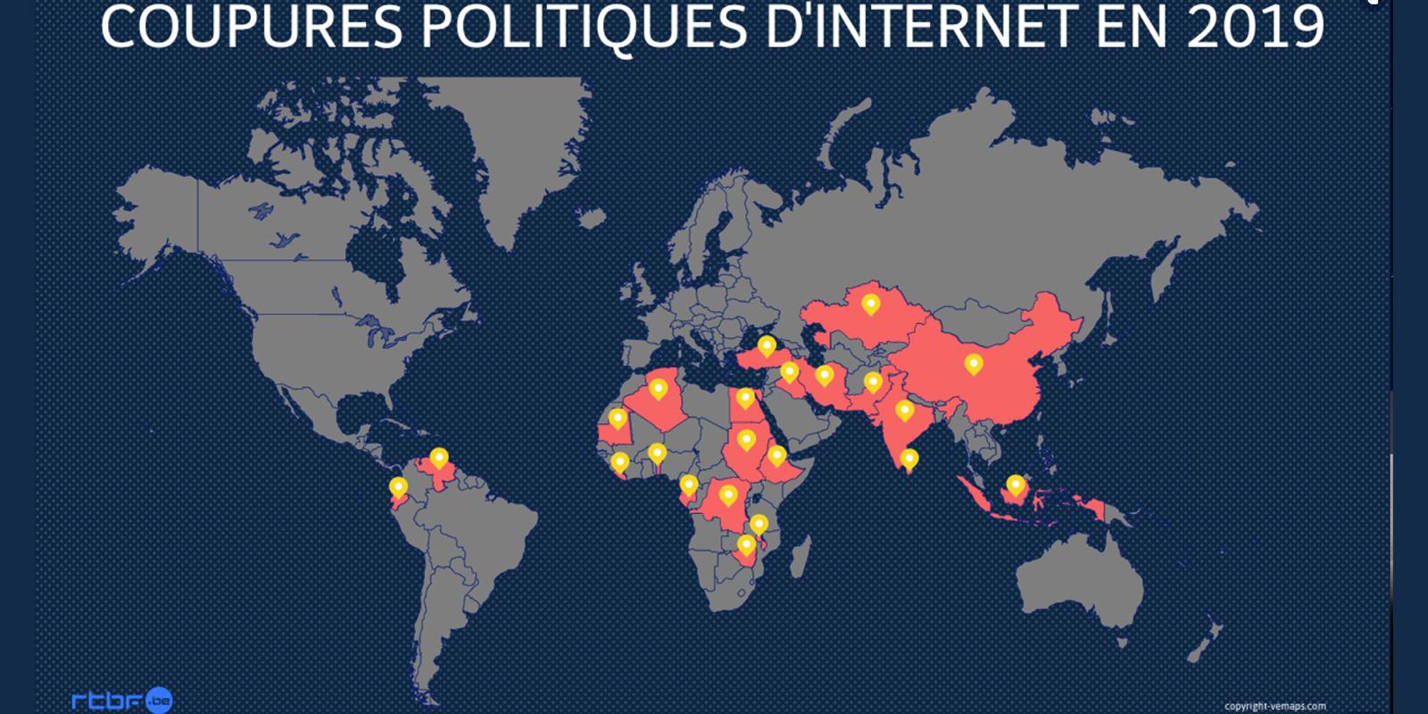 Coupures politiques d'Internet en 2019