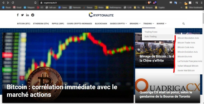 Cryptonaute Bitcoin Era Bitcoin Code Bitcoin Revolution arnaque