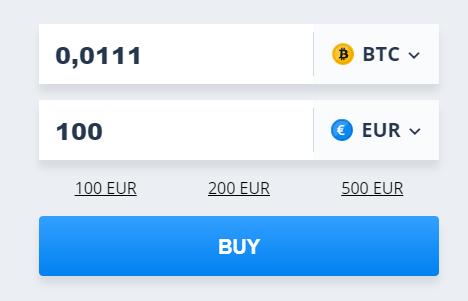 Widget CEX.IO Achat Bitcoin