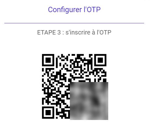 QR code pour configurer le 2FA