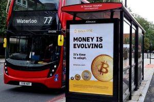 Binance diffuse des publicités pour le Bitcoin (BTC) à Londres