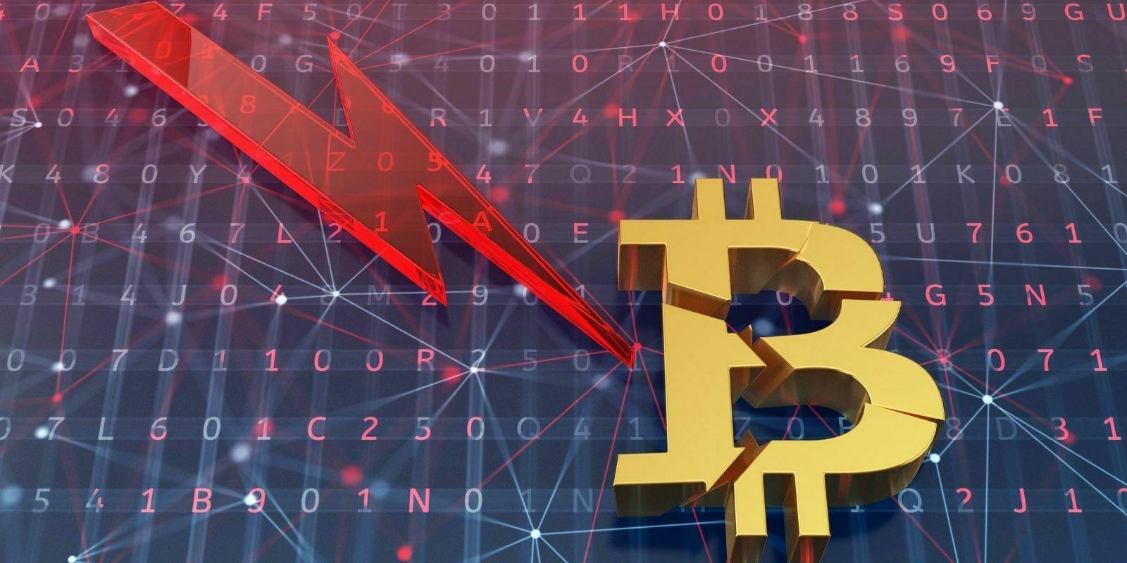 Week-end agité pour le Bitcoin (BTC), victime d'un flash crash de 12%