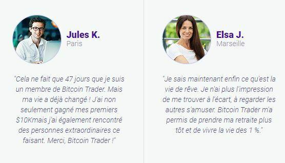 Bitcoin Trader arnaque témoignages