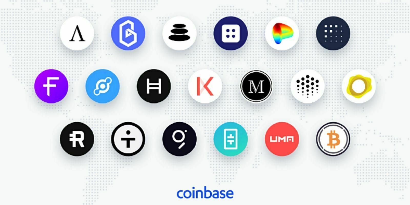 L'exchange Coinbase envisage l'ajout de 19 nouvelles cryptomonnaies