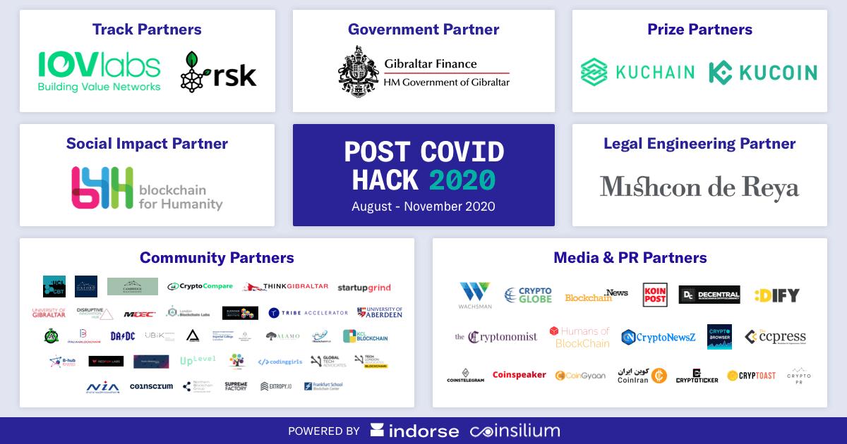 Post Covid Hack 2020 Partenaires