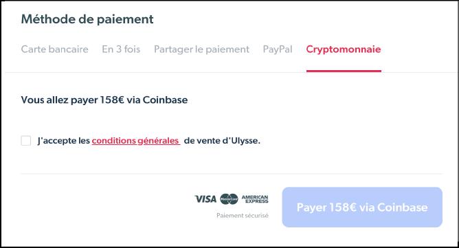 Ulysse paiement cryptomonnaies