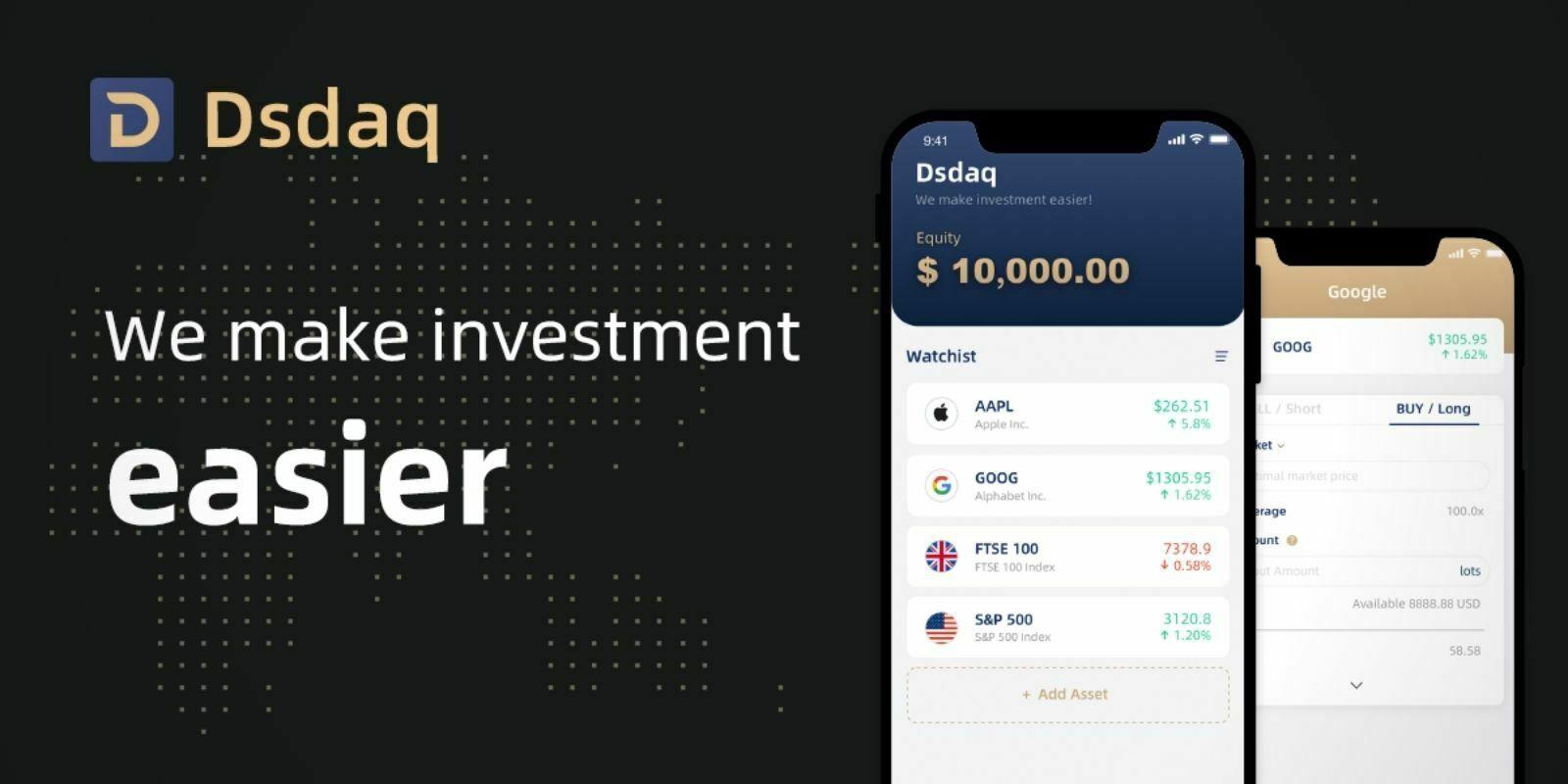 Dsdaq : l'application pour trader les actions avec à vos cryptomonnaies