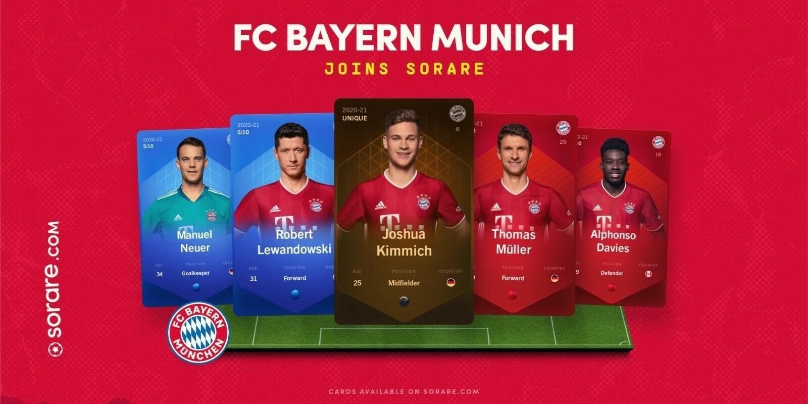 Le Bayern de Munich arrive sur la blockchain avec le jeu Sorare
