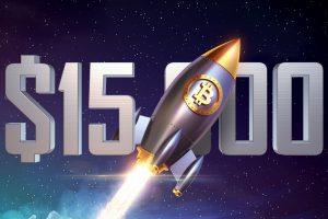 Le Bitcoin (BTC) franchit la barre des 15 000 $ - Du jamais vu depuis presque 3 ans