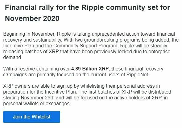 Email arnaque Ripple XRP