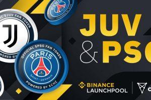 Binance lance le farming des fans tokens du PSG et de la Juventus