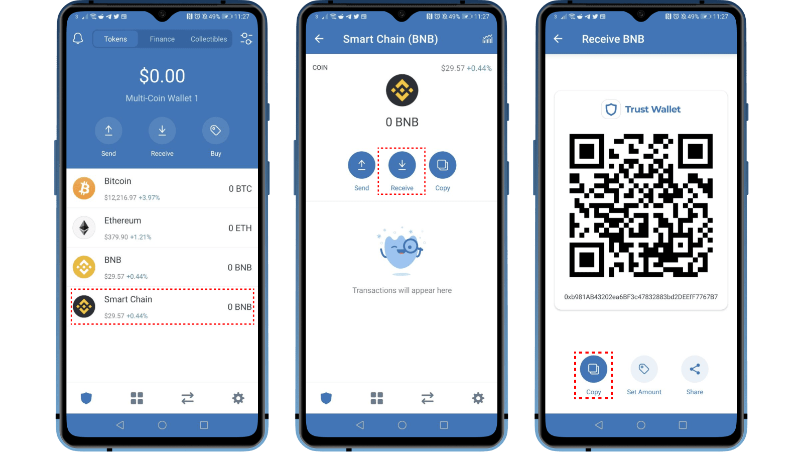 Smart Chain Trust Wallet