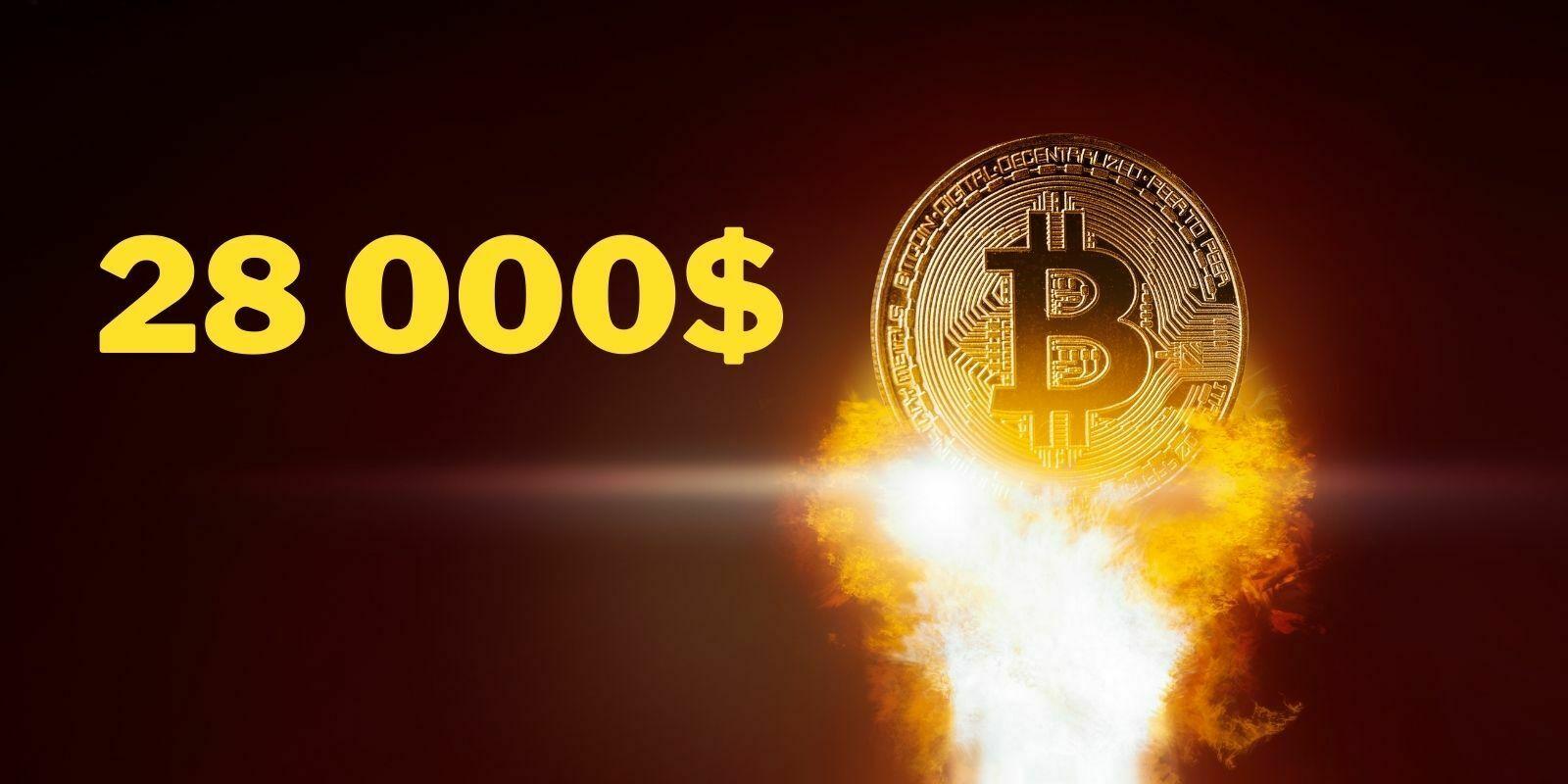 Bitcoin (BTC) établit un nouveau record au-dessus des 28000 dollars