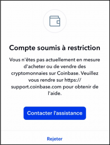 Coinbase Restrictions