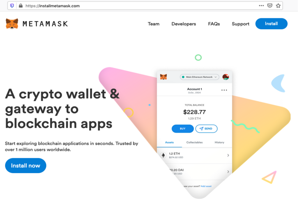 Metamask phishing site