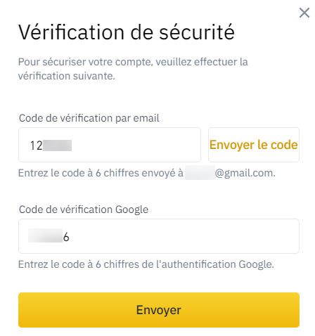 Vérification Retrait Binance
