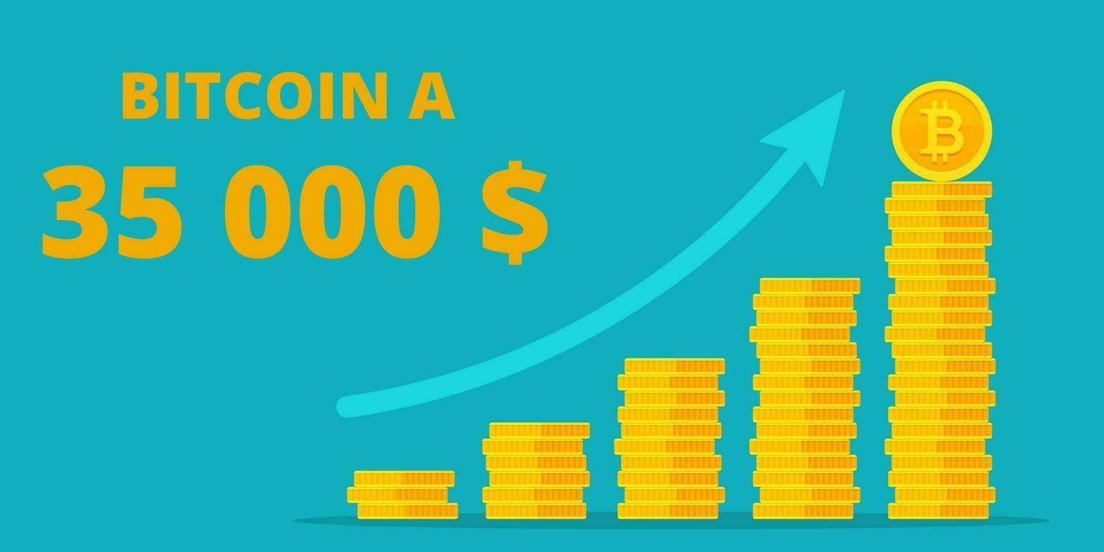 Le Bitcoin (BTC) dépasse les 35 000 dollars et devient un des dix actifs les plus capitalisés au monde