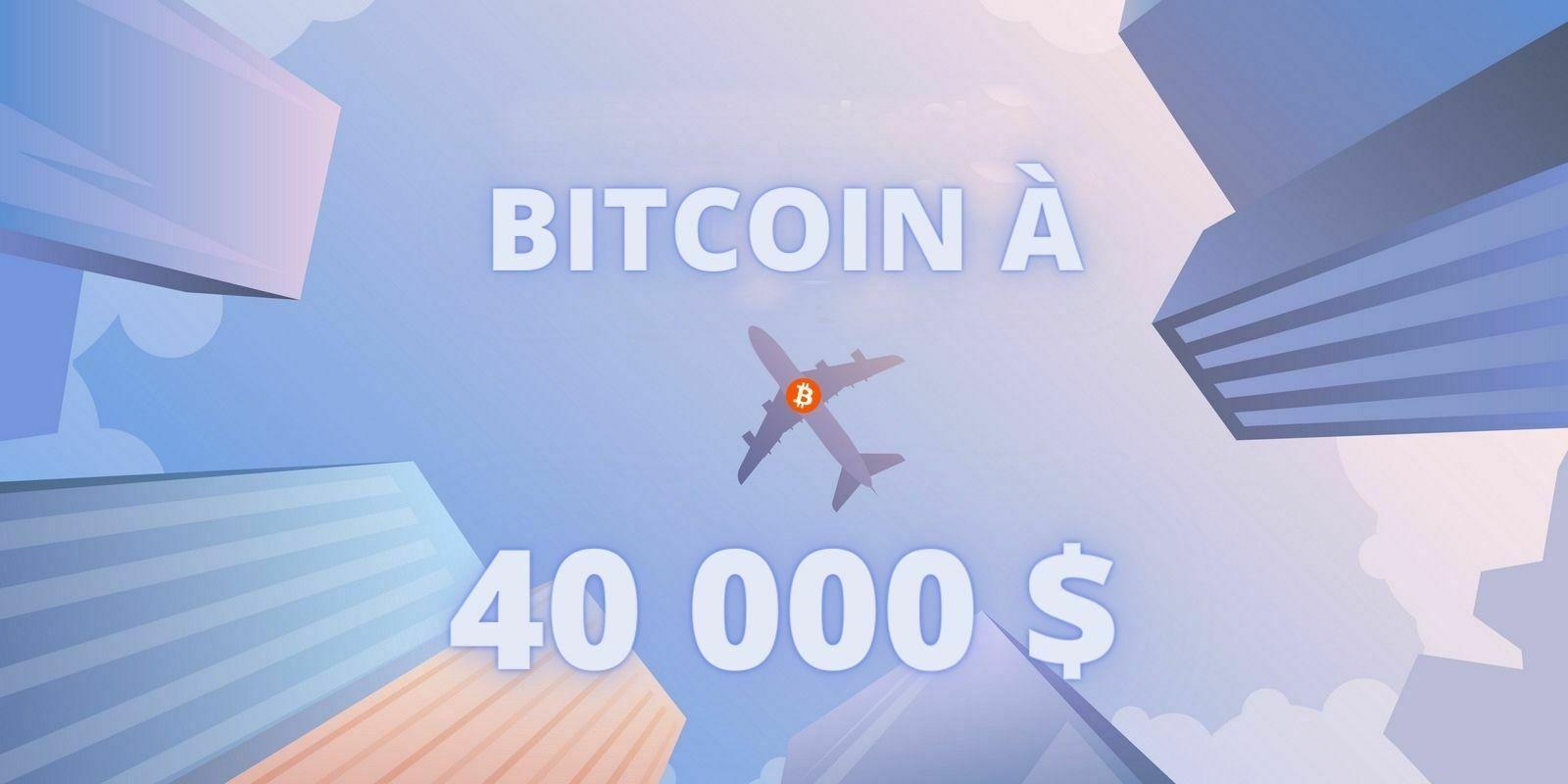 Le volume d'échange de Bitcoin (BTC) double alors que son prix a dépassé les 40 000 dollars