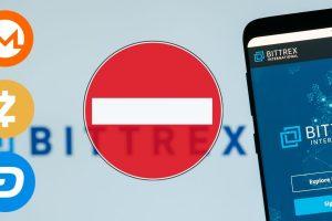 Bittrex retirera les crypto-monnaies Monero, ZCash et DASH de sa plateforme le 16 janvier 2021