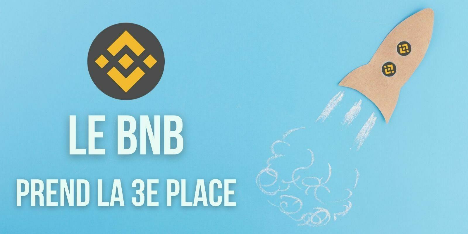 Le BNB de Binance devient la 3e plus grande cryptomonnaie et détrône le Tether (USDT)