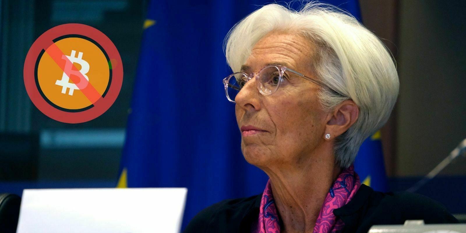 Christine Lagarde tacle une fois de plus le Bitcoin (BTC) et les cryptomonnaies