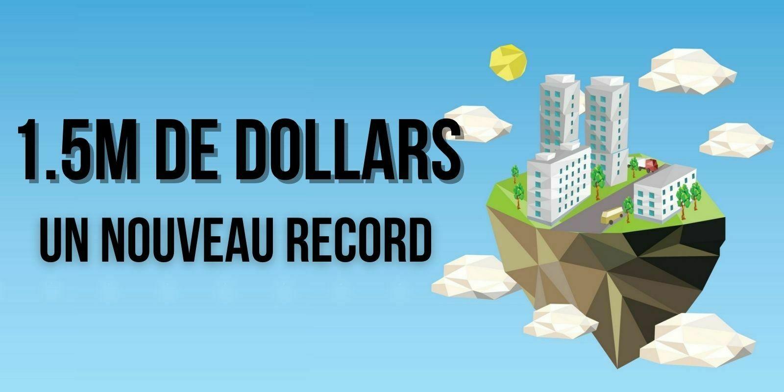 Nouveau record de NFT : des terrains virtuels à 1,5 million de dollars