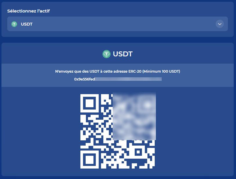 Yield App Dépôt USDT