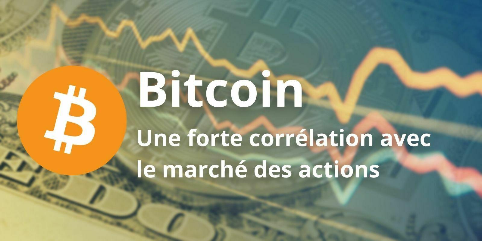 Bitcoin (BTC) - La corrélation positive avec le marché actions reste forte
