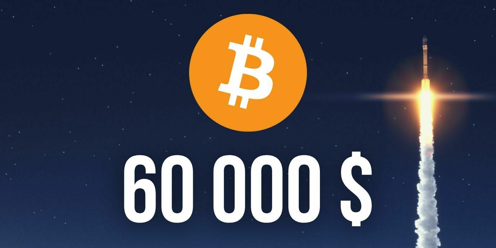 Le Bitcoin (BTC) franchit les 60 000 dollars, un nouveau record historique
