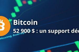 Bitcoin (BTC) - Le support à 52 900$ est décisif à très court terme