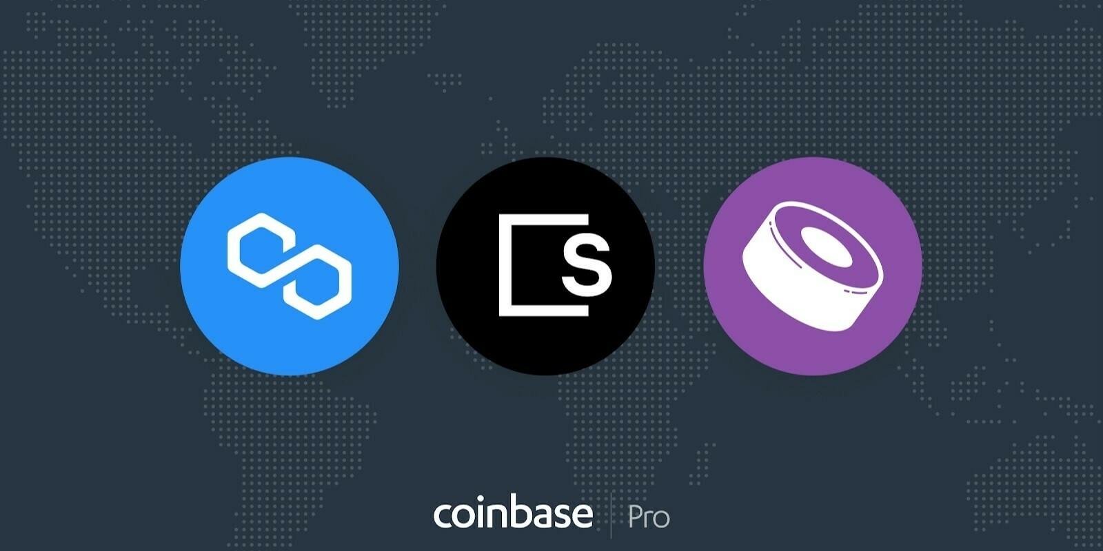 Coinbase Pro ajoute les tokens de Polygon (MATIC), SushiSwap (SUSHI) et Skale Network (SKL)