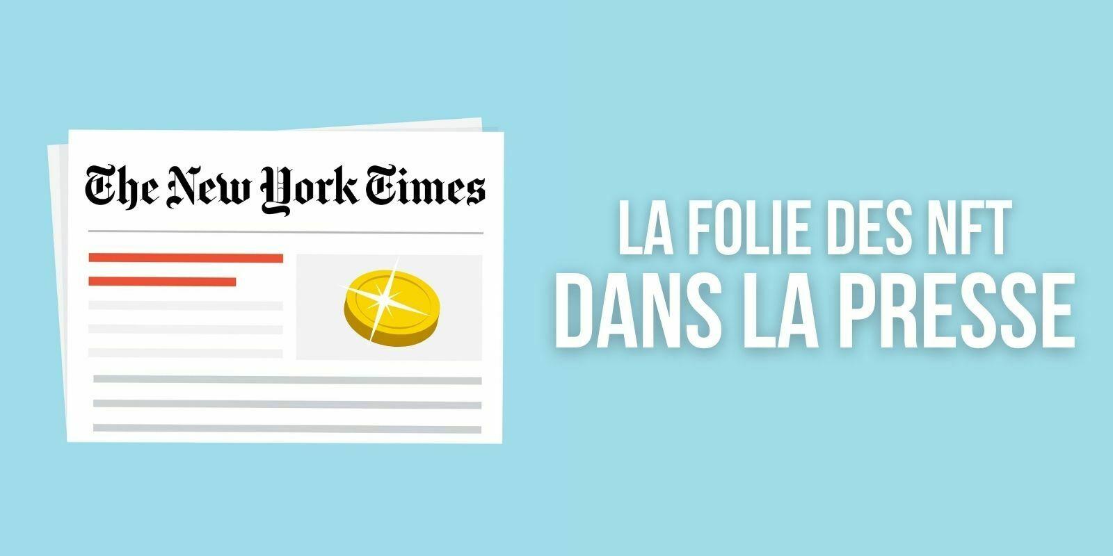 Le New York Times vend un article en NFT contre 560 000 dollars