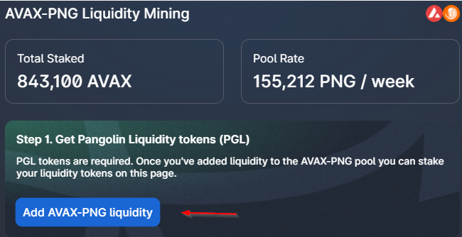 Pangolin Ajout Liquidité