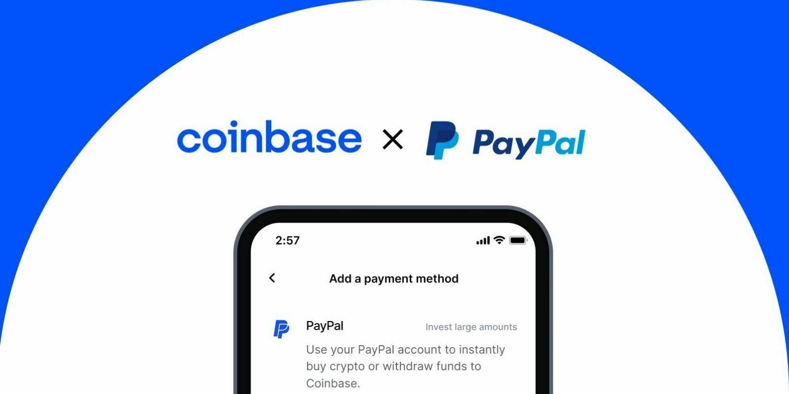 Coinbase permet à ses clients américains d'acheter des cryptomonnaies avec PayPal
