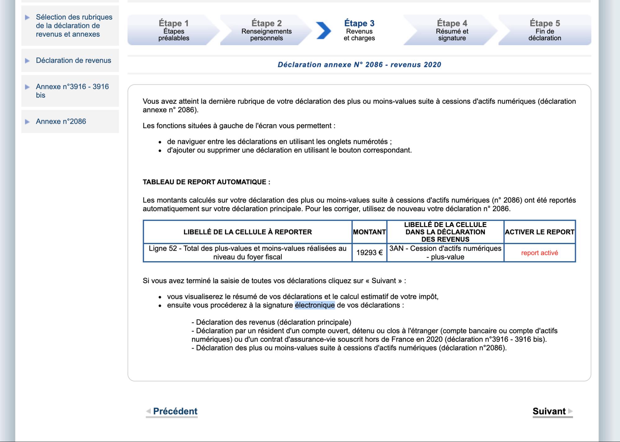 Déclaration Fiscale Cryptomonnaies