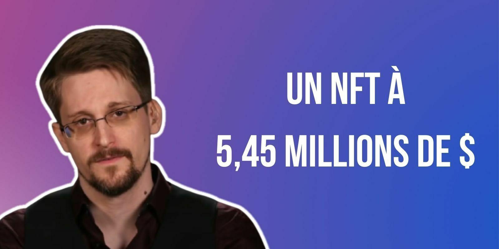 Edward Snowden vend un NFT 5,45 millions de dollars au profit d'une organisation défendant la liberté d'expression