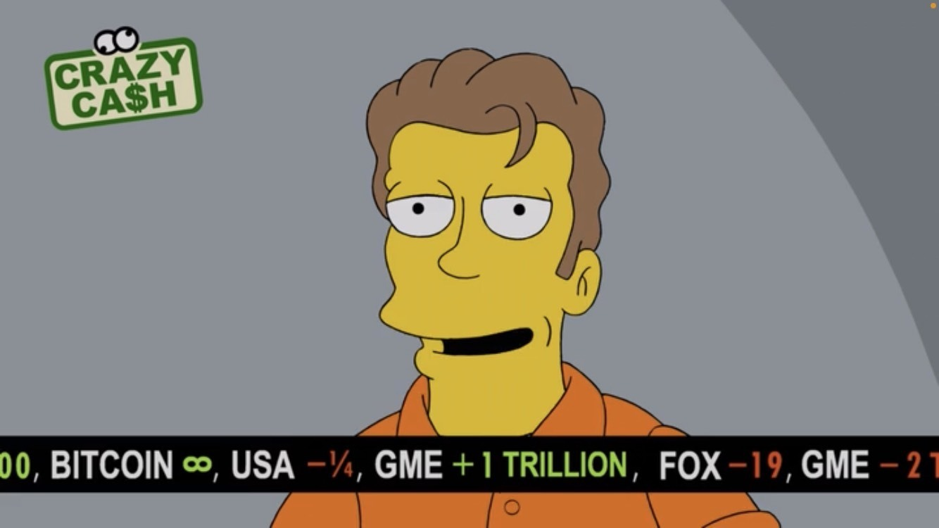 Les Simpson actions bitcoin GameStop