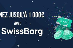 SwissBorg double son bonus de bienvenue, et vous fait gagner jusqu'à 1 000€ en CHSB
