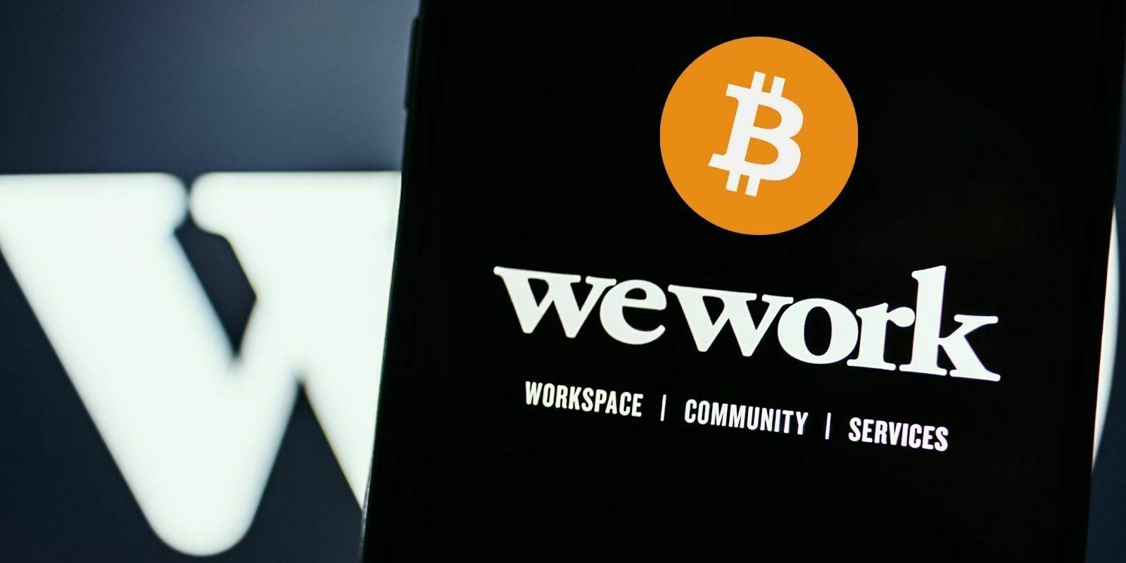 WeWork accepte les paiements en cryptomonnaies et les conservera dans sa trésorerie