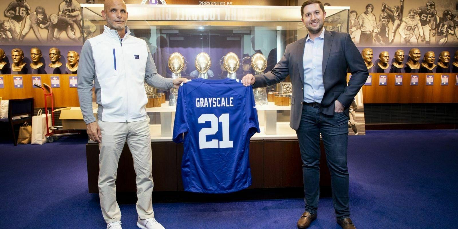 Grayscale signe un partenariat avec la franchise NFL des Giants de New York