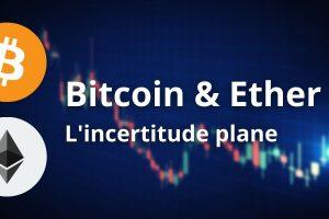 La baisse se poursuit sur Bitcoin (BTC), l'Ether (ETH) passe en range