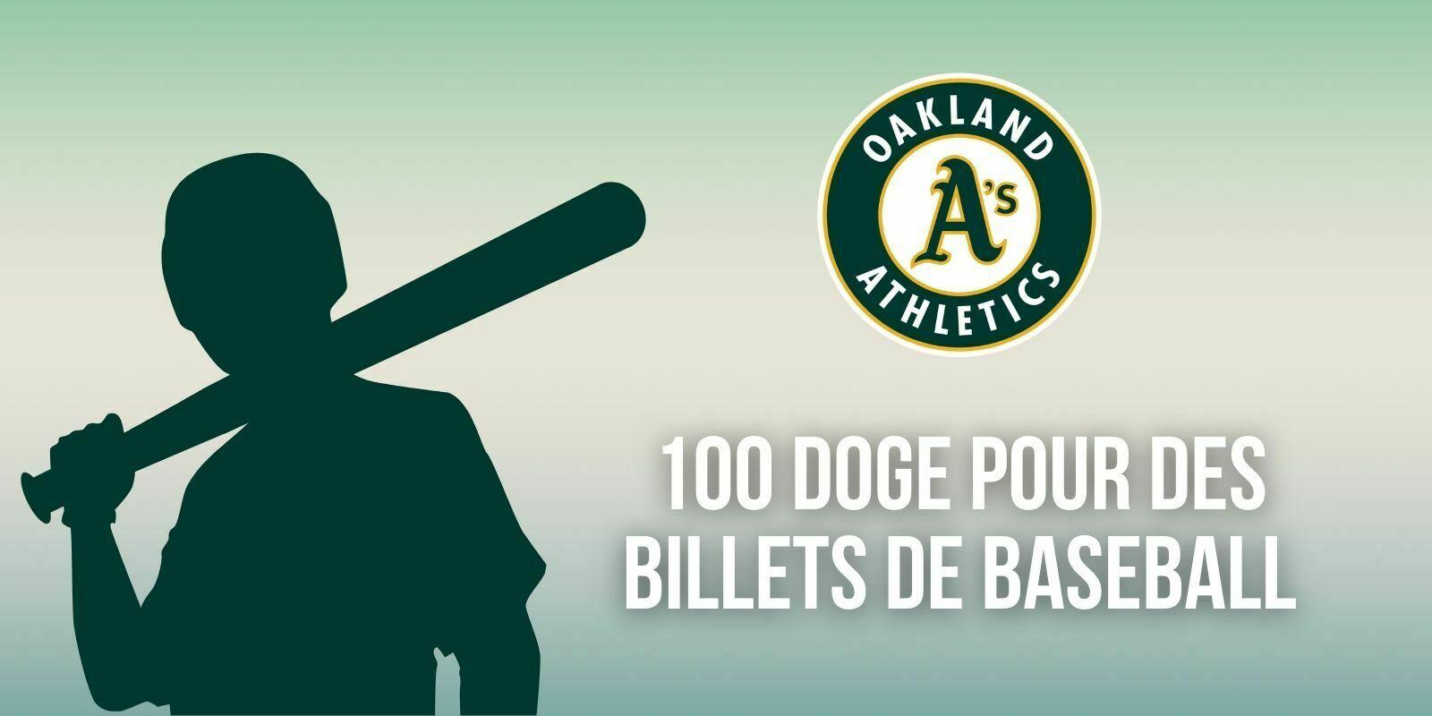 Une équipe de baseball vend des tickets pour 100 Dogecoin (DOGE)