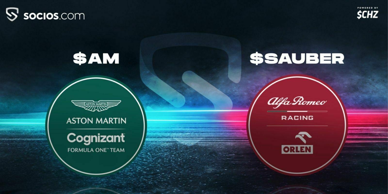 Les écuries de F1 Aston Martin et Alfa Romeo lancent des fans tokens en partenariat avec Chiliz (CHZ)