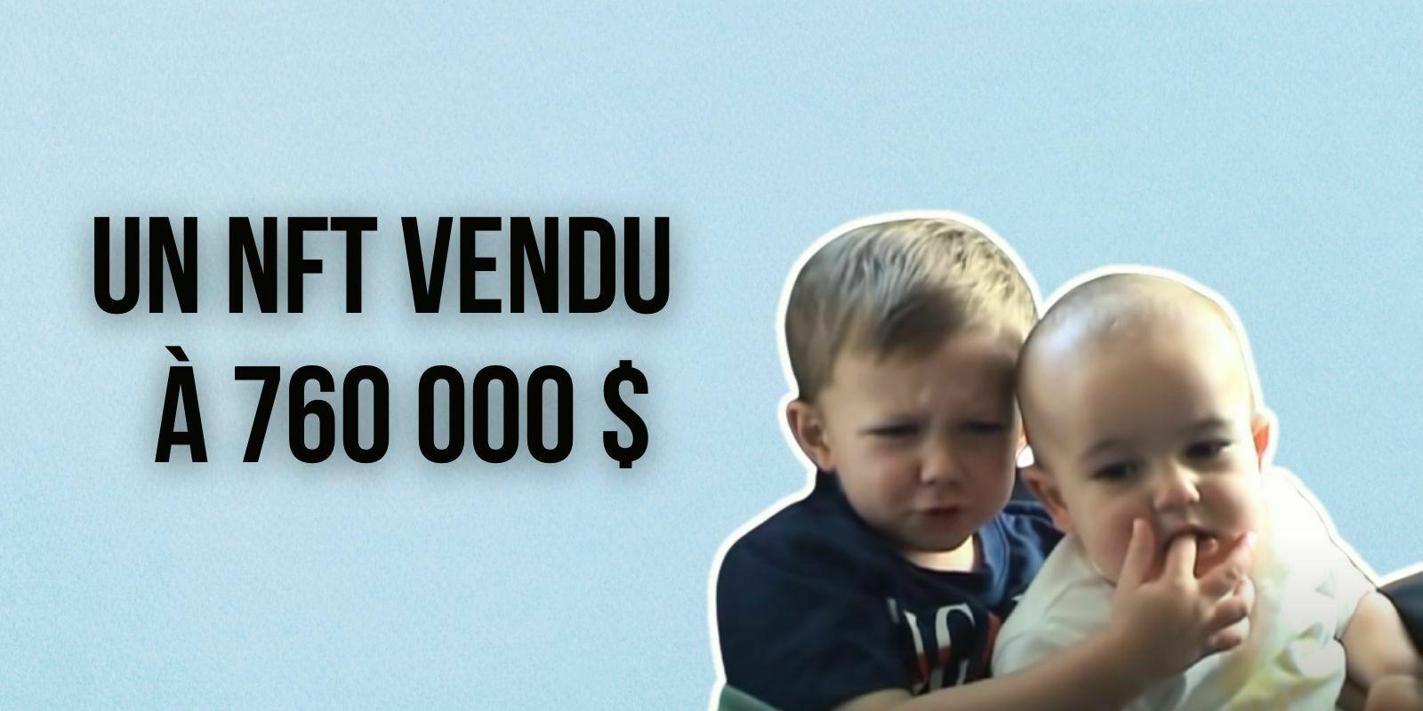 Le NFT de la vidéo de « Charlie Bit My Finger » s'est vendu aux enchères pour 760 000 $