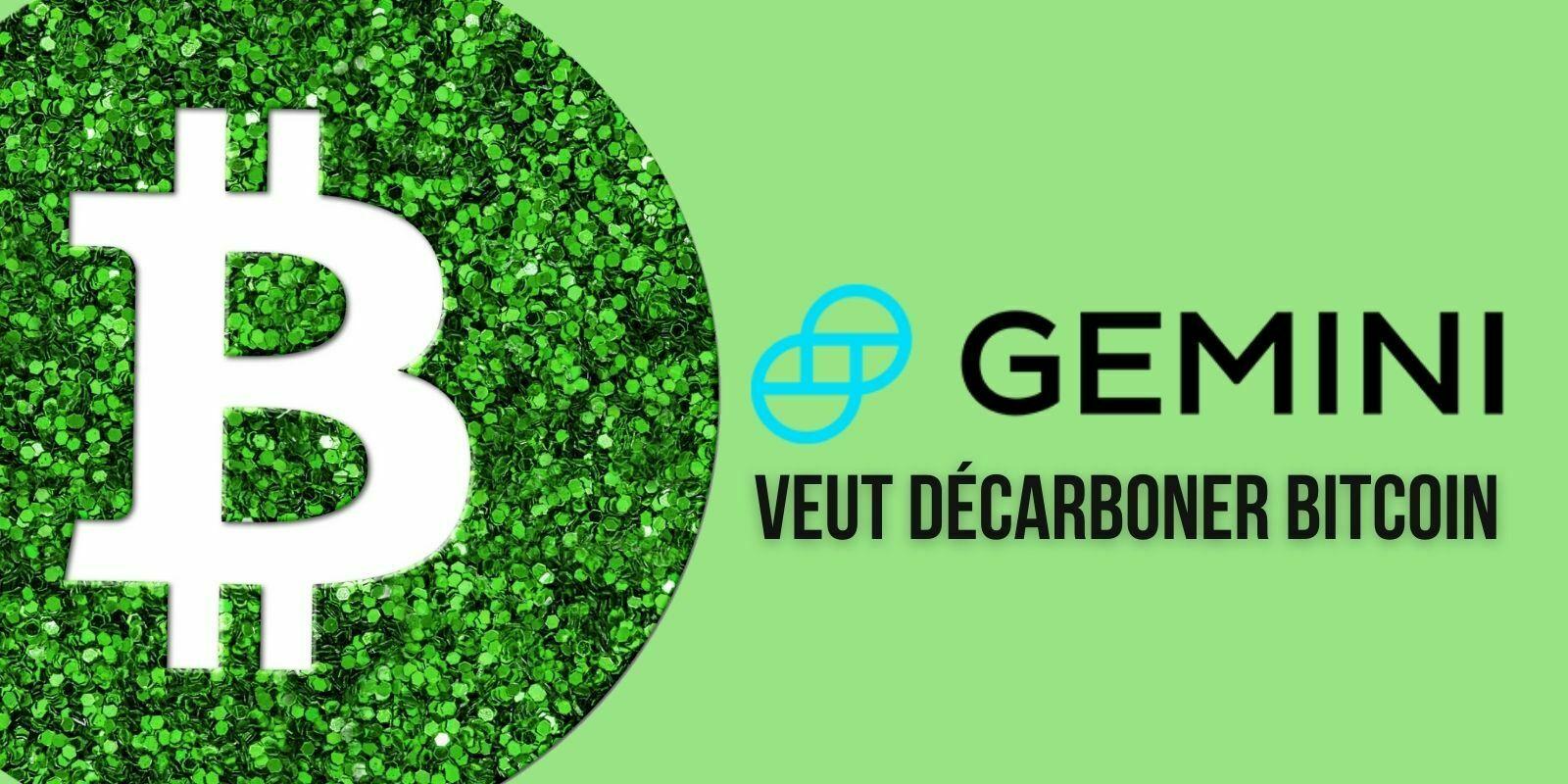 Gemini achète des crédits carbone pour compenser le coût écologique de Bitcoin (BTC)