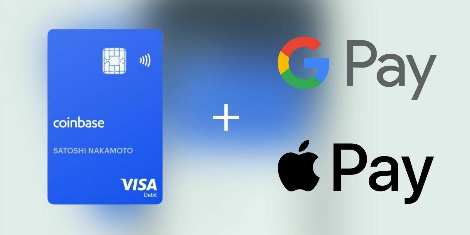La crypto-carte de Coinbase peut maintenant être utilisée via Apple Pay et Google Pay